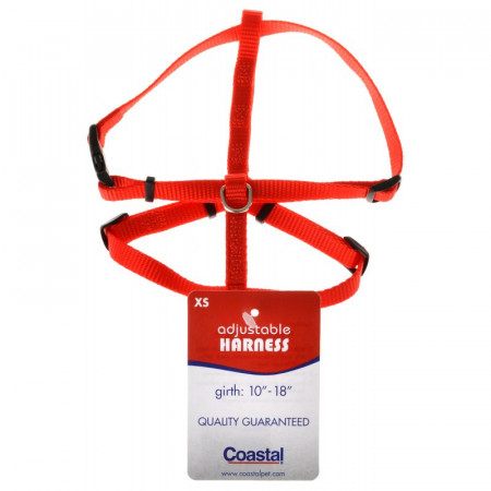 Tuff Collar Nylon Adjustable Harness - Red alternate img #1