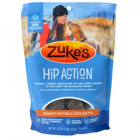 Zukes Hip Action Treats - Peanut Butter & Oats alternate img #1