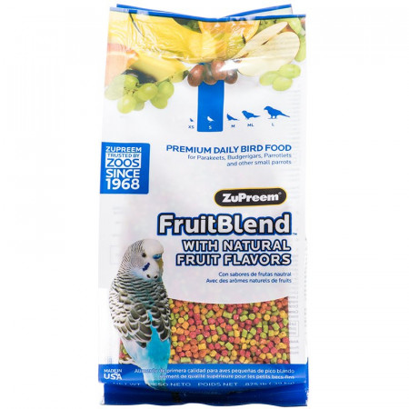 ZuPreem FruitBlend Premium Daily Bird Food for Small Birds alternate img #1