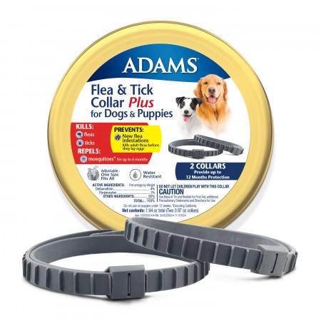 Adams Flea & Tick Collar Plus for Dogs & Puppies alternate img #1