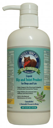 Grizzly Hemp Enhanced Liquid Hip and Joint Product for Dogs & Cats alternate img #1