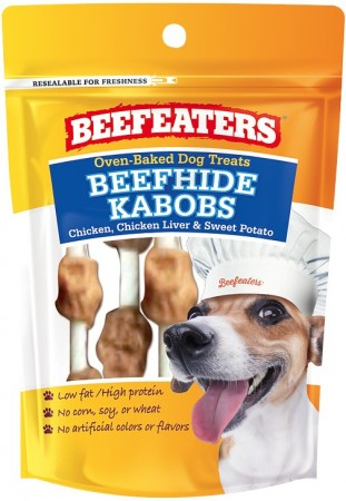 Beafeaters Oven Baked Beefhide Kabobs Dog Treat alternate img #1