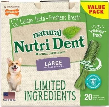 Nylabone Natural Nutri Dent Fresh Breath Limited Ingredients Large Dog Chews alternate img #1