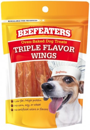 Beafeaters Oven Baked Triple Flavor Wings Dog Treat alternate img #1