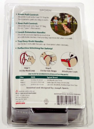 Sporn Ultimate Control Harness for Dogs - Black alternate img #2