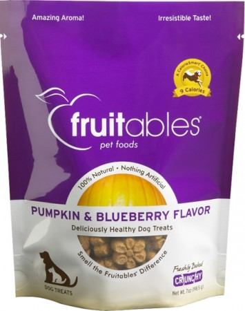 Fruitables Pumpkin & Blueberry Flavor Crunchy Dog Treats alternate img #1