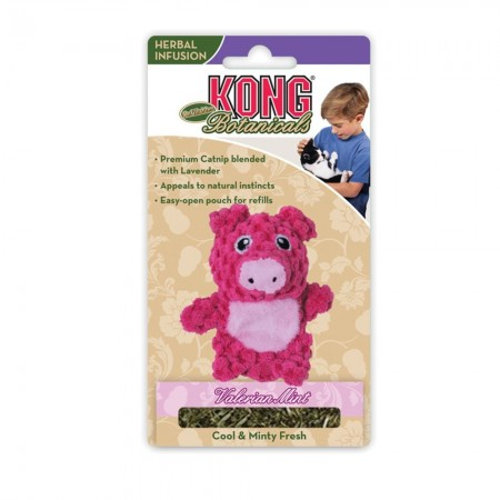 KONG Botanicals Refillable Piglet Cat Toy with Valerian Mint Catnip alternate img #1