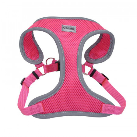 Coastal Pet Comfort Soft Reflective Wrap Adjustable Dog Harness - Neon Pink alternate img #1