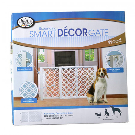 Four Paws Expanding Smart Decor Gate - Wood alternate img #1