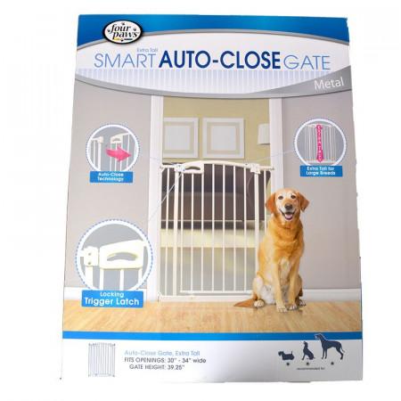 Four Paws Extra Tall Smart Auto-Close Gate - Metal alternate img #1