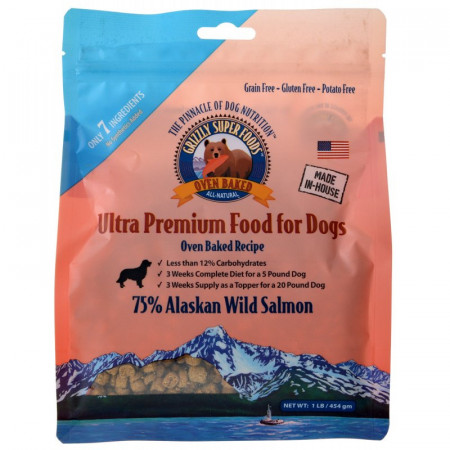 Grizzly Super Foods Oven Baked Alaskan Wild Salmon for Dogs alternate img #1