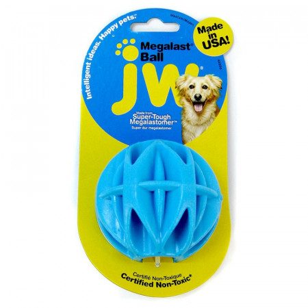 JW Pet Megalast Rubber Ball Toy - Assorted Colors alternate img #1