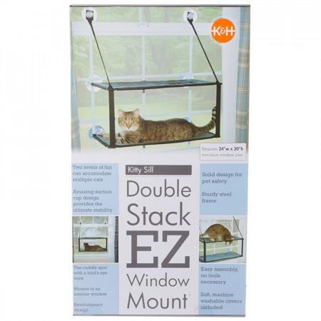 K&H Pet Kitty Sill Double Stack EZ Window Mount alternate img #1