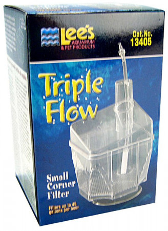 Lees Triple Flow Corner Aquarium Filter alternate img #1