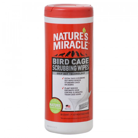 Natures Miracle Bird Cage Scrubbing Wipes alternate img #1