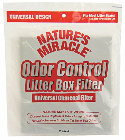 Natures Miracle Odor Control Litter Box Universal Charcoal Filter alternate img #1