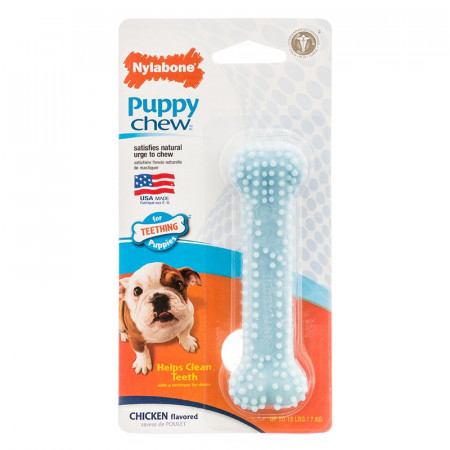 Nylabone Puppy Chew Dental Bone - Blue alternate img #1