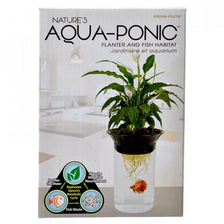 Penn Plax Natures Aqua-Ponic Planter & Fish Habitat alternate img #1