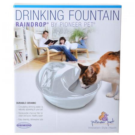 Pioneer Pet Raindrop Ceramic Drinking Fountain - White alternate img #1