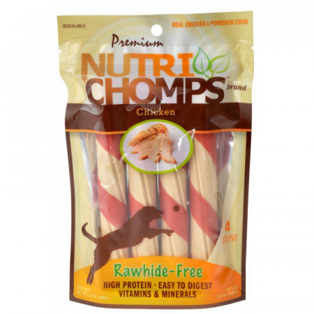 Pork Chomps Premium Nutri Chomps Chicken Wrapped Twists alternate img #1