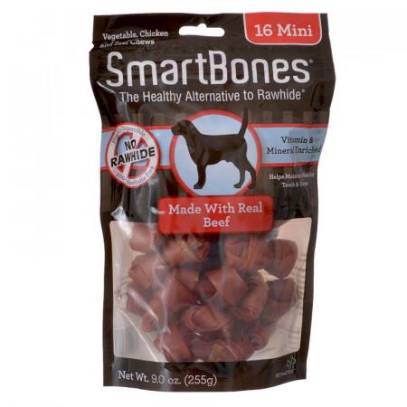 SmartBones Rawhide Free Beef Bones - Mini alternate img #1