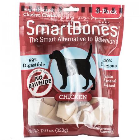 SmartBones Rawhide Free Chicken Bones - Large alternate img #1