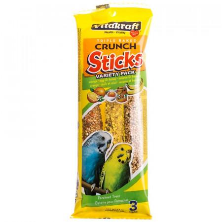 Vitakraft Parakeet Crunch Sticks Variety Pack - Orange, Egg & Honey, Sesame & Banana alternate img #1