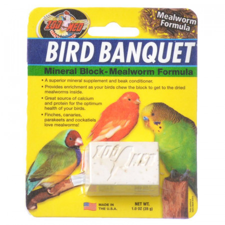 Zoo Med Bird Banquet Mineral Block - Mealworm Formula alternate img #1