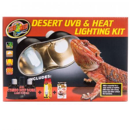 Zoo Med Desert UVB & Heat Lighting Kit alternate img #1