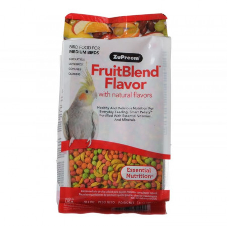 ZuPreem FruitBlend Flavor Bird Food for Medium Birds alternate img #1
