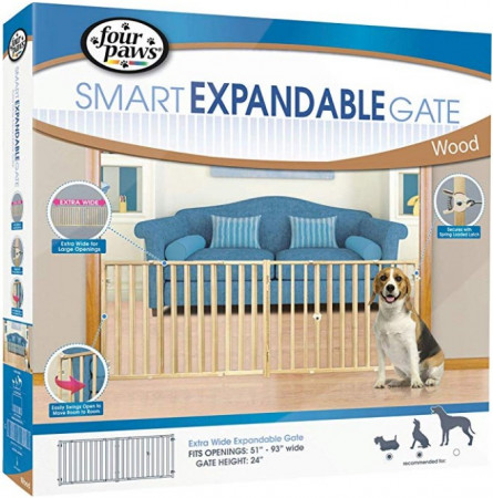 Four Paws Extra Wide Wood Safety Gate alternate img #1