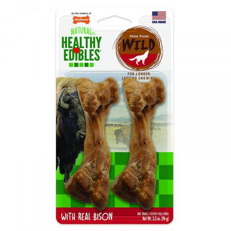Nylabone Healthy Edibles Natural Wild Bison Chew Treats - Medium alternate img #1