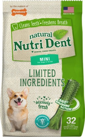 Nylabone Natural Nutri Dent Fresh Breath Limited Ingredients Mini Dog Chews alternate img #1