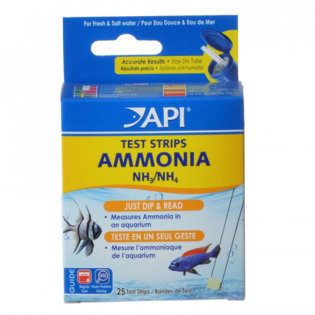 API Ammonia Aquarium Test Strips for Fresh & Saltwater alternate img #1
