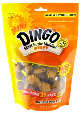 Dingo Beefy Meat & Rawhide Chew Bones - Mini alternate img #1