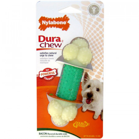 Nylabone Dura Chew Double Action Chew - Bacon Flavor alternate img #1
