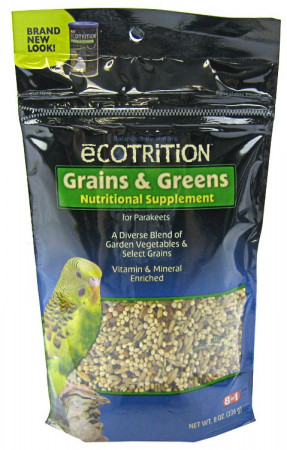 Ecotrition Grains & Greens Nutritional Supplement for Parakeets alternate img #1