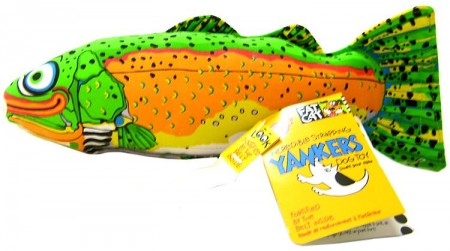 Fat Cat Incredible Strapping Yankers Trout Dog Toy alternate img #1