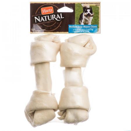 Hartz Natural Rawhide Bones - Medium Dogs alternate img #1