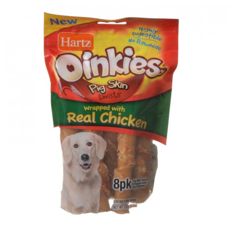 Hartz Oinkies Pig Skin Twists with Real Chicken alternate img #1
