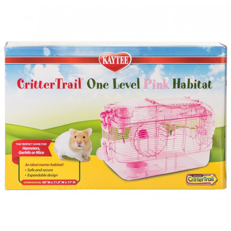 Kaytee CritterTrail One Level Pink Habitat alternate img #1