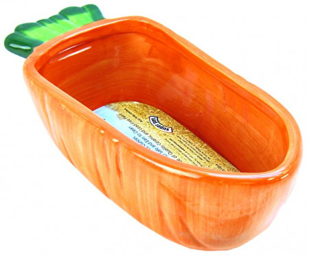 Kaytee Vege-T-Bowl Carrot Large Food Dish alternate img #2