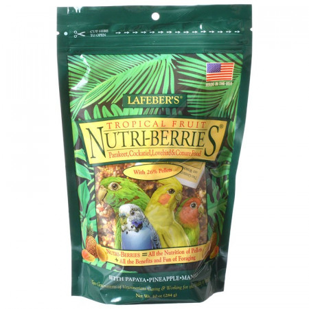 Lafeber Tropical Fruit Nutri-Berries - Parakeet, Cockatiel & Conure Food alternate img #1