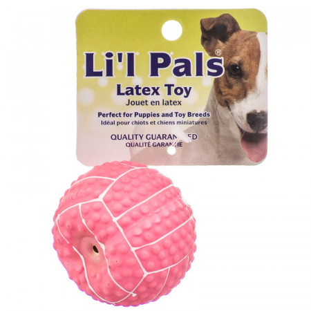 Lil Pals Latex Mini Volleyball for Dogs - Pink alternate img #1