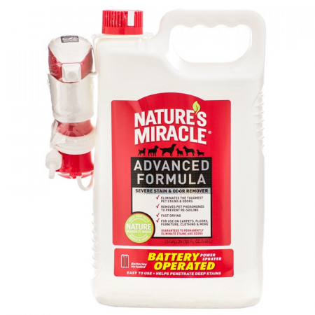 Nature's Miracle Advanced Stain & Odor Remover - Battery Powered Sprayer alternate img #1