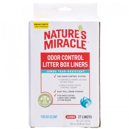 Nature's Miracle Jumbo Odor Control Litter Box Liners alternate img #1