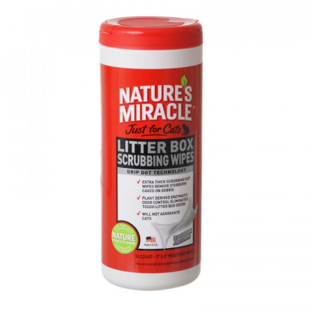 Nature's Miracle Just For Cats Litter Box Wipes alternate img #1