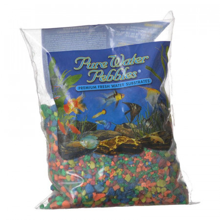 Pure Water Pebbles Aquarium Gravel - Neon Rainbow alternate img #1
