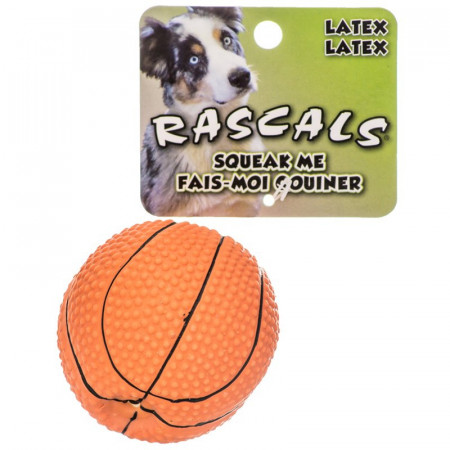 Coastal Pet Rascals Latex Basketball Dog Toy alternate img #1