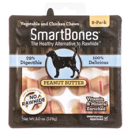 SmartBones Rawhide Free Peanut Butter Bones - Mini alternate img #1